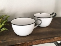 Set of Two Granite Teacups