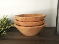Set of Three Wooden Bowls