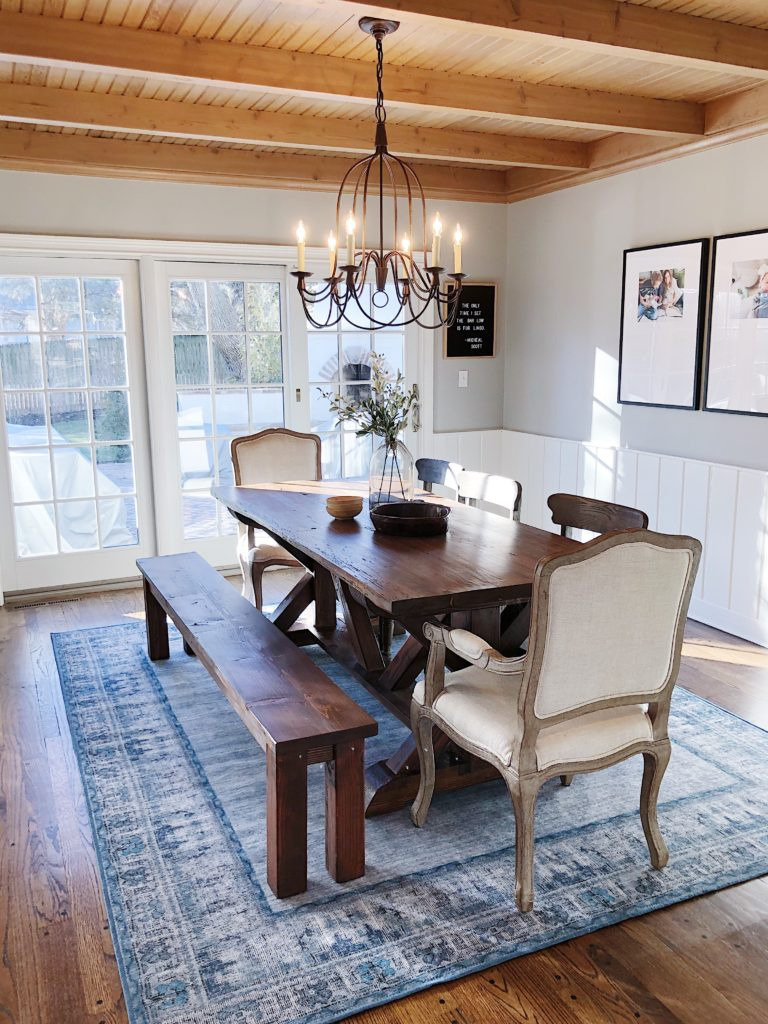 Machine-Washable Dining Room Rug! • Mindfully Gray