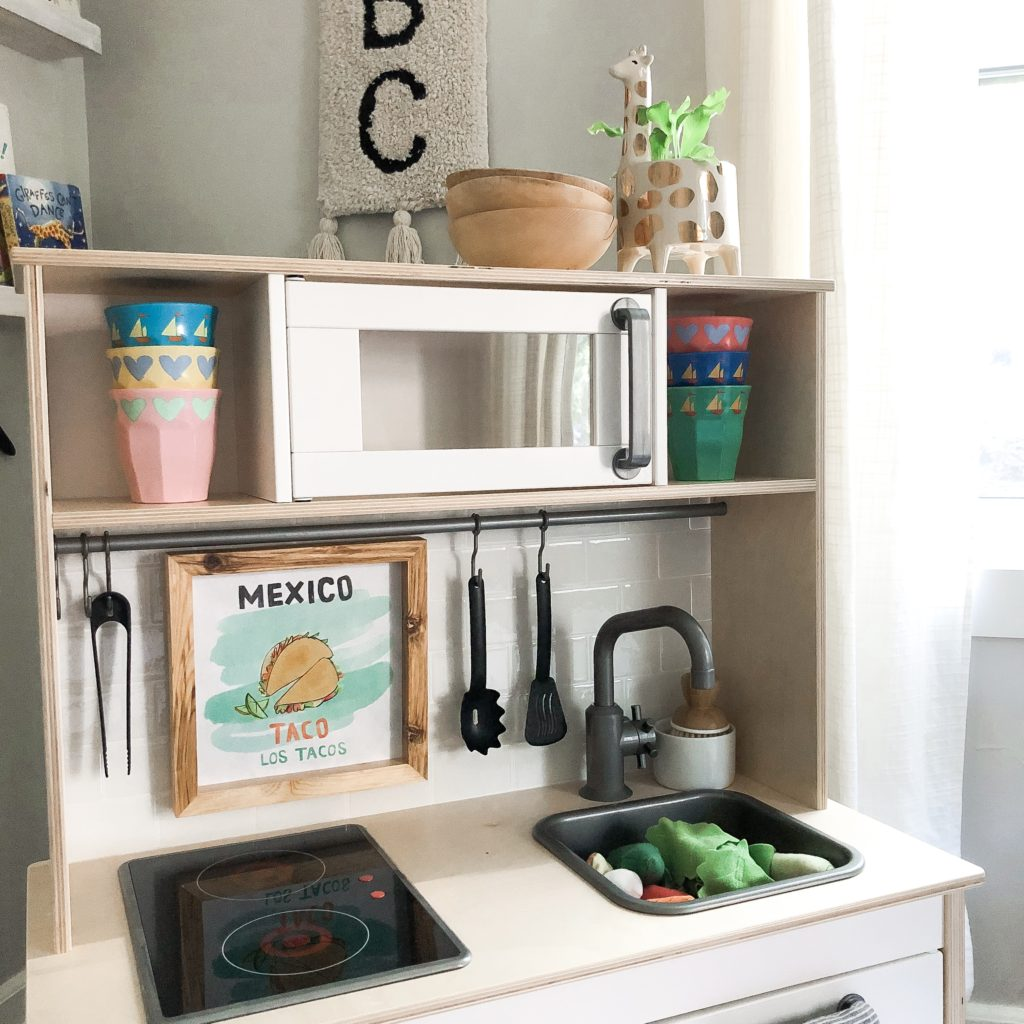Play Kitchen Hack With Flower Kids Accessories